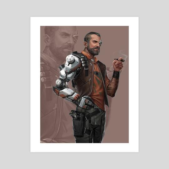 """Android: Netrunner - """"Gabriel Santiago"""" by Matt  Zeilinger"""
