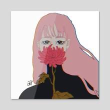 chrysanthemum - Acrylic by Amanda Swank