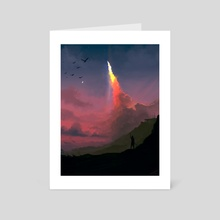 Leaving Heaven - Art Card by Jesse Johnson