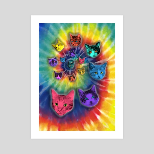 TIE DYE CATS by Gloria Sánchez