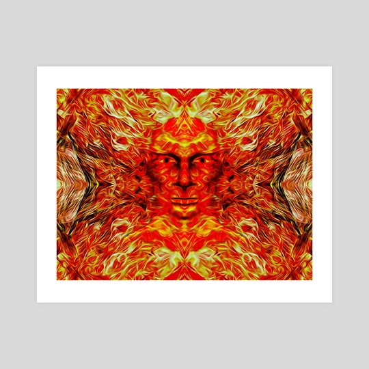 Face in fire by Gvardian Gyula