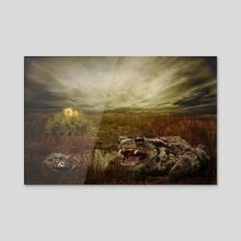 Fern ring quest - Acrylic by Geraldas Galinauskas