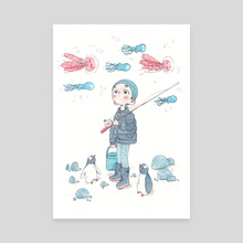 Fisherboy - Canvas by lea charbonnier