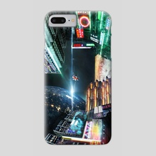 Cyberpunk city - Phone Case by Volodymyr Sava