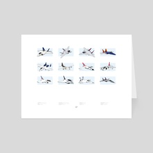 Friendly Skies - Combined Air Power - Art Card by Eric Etten