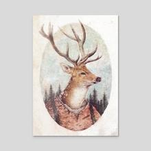 Wild Wanderer - Acrylic by Mike Koubou