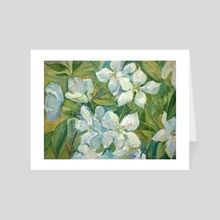 Cherry flowers - Art Card by Dina Morzhina