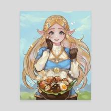 Zelda - Canvas by Alpaca Carlesi
