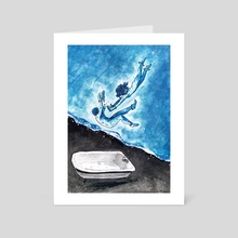 Empty Swimming Pool - Art Card by Etubi Onucheyo