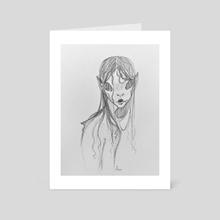 Siren Sketch - Art Card by Maddie Weathers