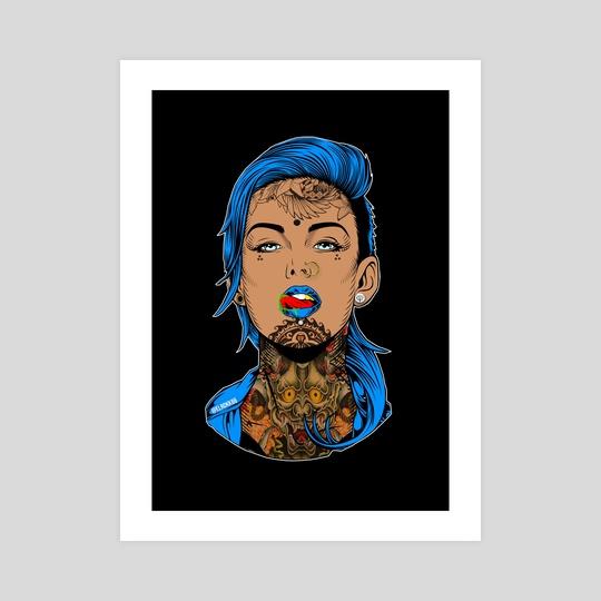 Blue Girl by Ephrem Rokk
