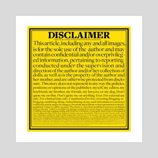 Disclaimer by jennifer daniel
