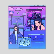 desktop of my life - Acrylic by fresh_bobatae