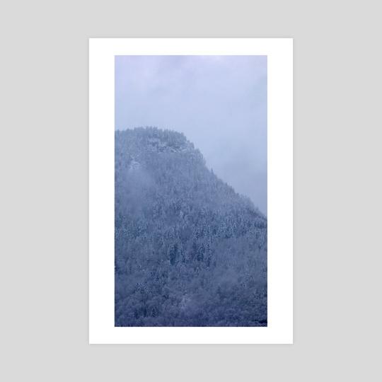 Snowy Mountain - La Motte by Raphaelle Fontaine