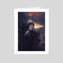Blood Moon's Daughter - Art Card by Robson Michel