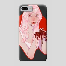 heart eater - Phone Case by Lola Rou
