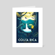 costa rica rainforest - Art Card by matt schnepf