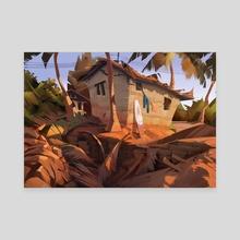 Beach house - Canvas by Robin Lhebrard