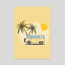 Yellow Combi - Canvas by Visuals Artwork