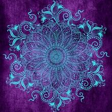 Mandala - Grape - Canvas by Alexandre Ibáñez