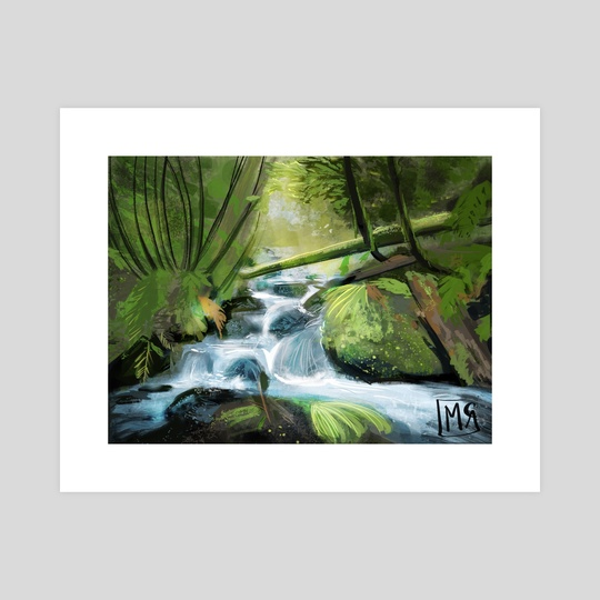 Creek in the Woods by Maddison