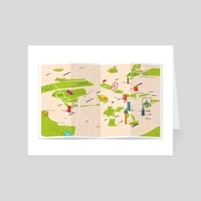 Ankara Map - Art Card by anil yanik