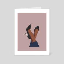 Legs art - pink - Art Card by Ryohei Kaneko
