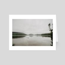 New England fog - Art Card by jordan wtulich