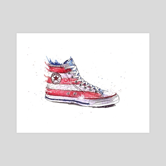a33bd35f4477 Red White and Blue Converse