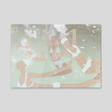 Swimming team - Acrylic by Agnes Loonstra