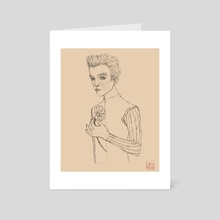 Platonique - Schiele reimagined - Art Card by fioridimercurio