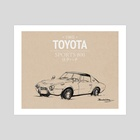 1965 Toyota S800 - Art Print by Brandon Voong