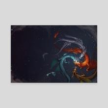 Dragonflower - Canvas by Kelley McMorris