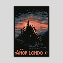 Vist Anor Londo - Canvas by Matheus Lopes