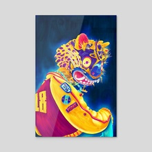 Jaguar Guerrero - Acrylic by Carlos Cano