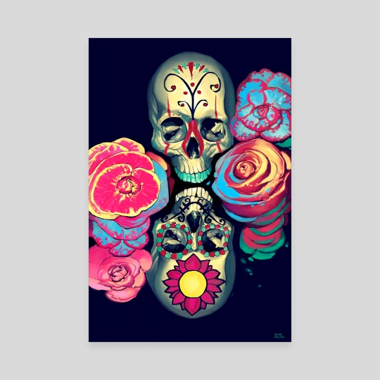 A Dream of Skulls and Flowers by Brad Collins