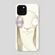 Rabbit Fight - Phone Case by Alexis Allen