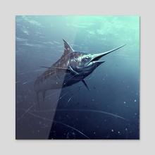 Marlin - Acrylic by Alexander Zienko