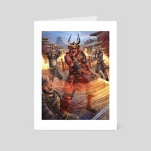 Demon Samurai - Art Card by Richard Philpott