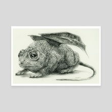 Bufonidae Flutter Mouse - Canvas by Jessica R U Bishop