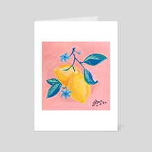 Little Lemons - Art Card by Tara Jean Art