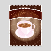 Coffee Time - Canvas by Allison Lythgoe