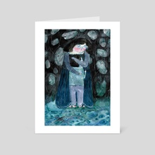 Hugs by the water - Art Card by Agnes Horneij
