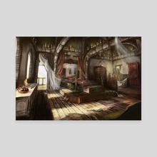 Helgas bedroom - Canvas by Meg Owenson