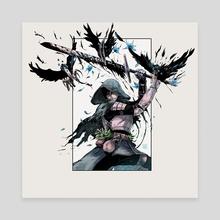Restless Knight - Canvas by _aya_aa