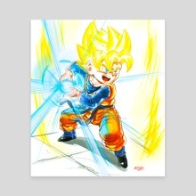 Going SSJ- Goten Kamehameha - Canvas by MARK CLARK II