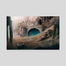 Desert Temple - Canvas by David Iglesias Martínez