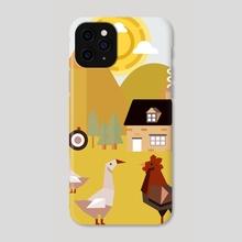 Village 5 - Phone Case by Michal Eyal