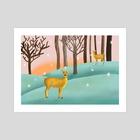 Deer - Art Print by Vlad Stroe