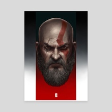 Old Man Kratos - Canvas by Rodney  Amirebrahimi